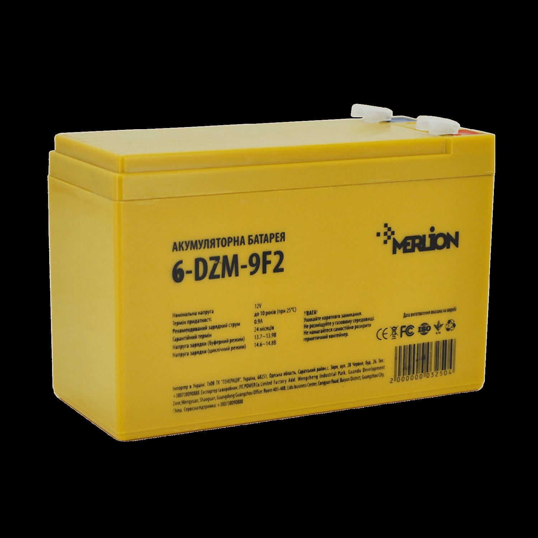Тяговый свинцово-кислотный аккумулятор 12V 9Ah 6-DZM-9