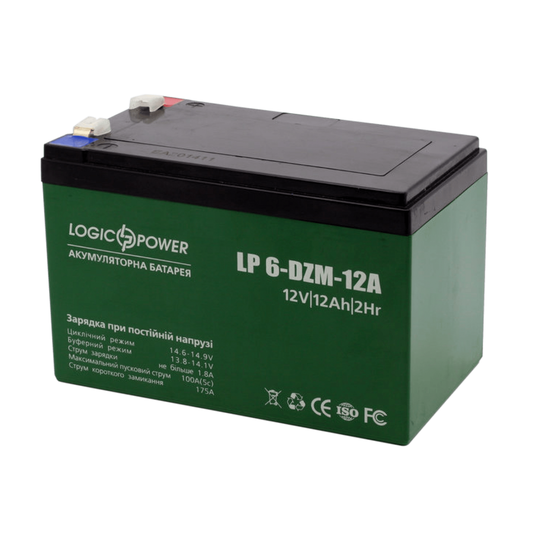 Тяговий акумулятор для електровелосипеда 12V 12Ah LP 6-DZM-12