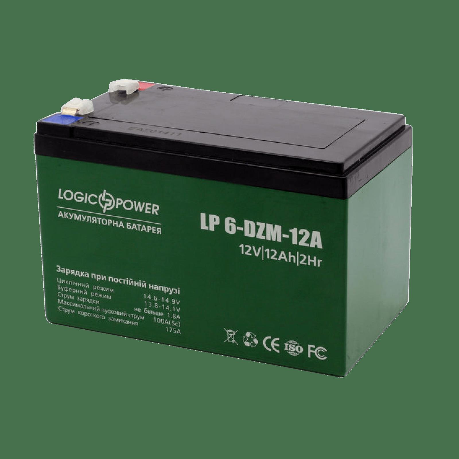 LP 6-DZM-12 12V 12Аh тяговый аккумулятор для электровелосипеда