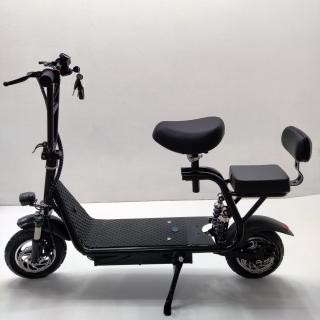 Mini 500w електросамокат з сидінням та знімним кошиком, акумулятор 15,9Ah