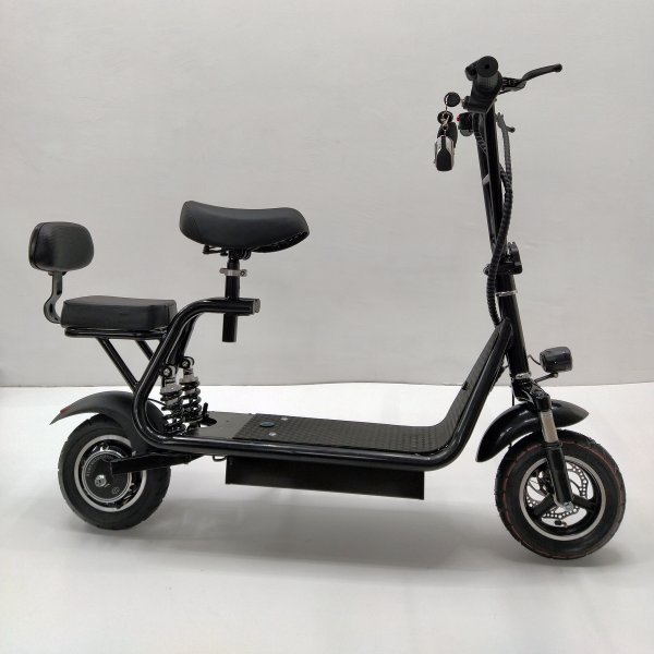 Mini 500w электросамокат с сиденьем и сьемной корзиной, аккумулятор 15,9Ah
