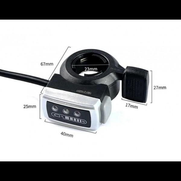 Ручка газа 36/48В с кнопкой и индикатором