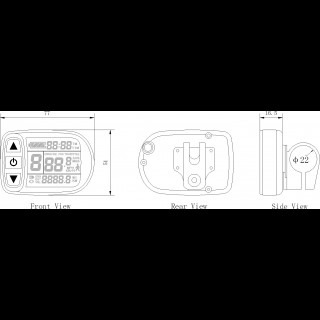 Дисплей LCD-5 для электровелосипеда с герметичным разъемом