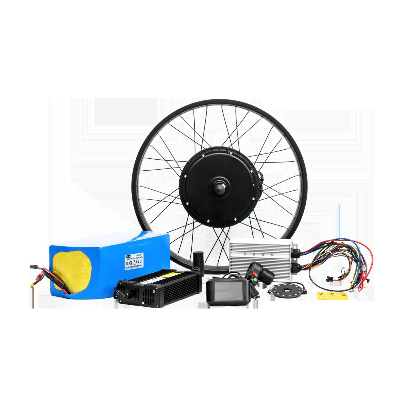 Електрокомплект для велосипеда 72В 3000Вт безредукторний з літій-іонним акумулятором Boston Swing 37Ah
