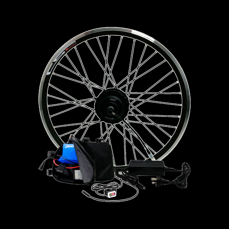 Электронабор для велосипеда 36В 350Вт MXUS редукторный с литий-ионным аккумулятором GreenWings 9,2Ah