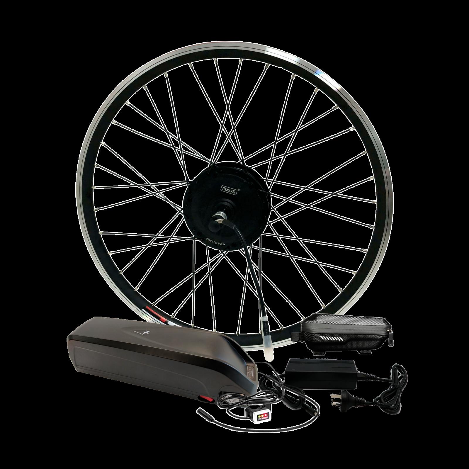 Электронабор для велосипеда 48В 500Вт MXUS редукторный с литий-ионным аккумулятором Panasonic 14,4Ah