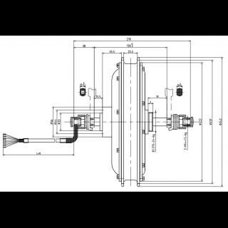 MXUS 1000Вт безредукторний мотор для велосипеда