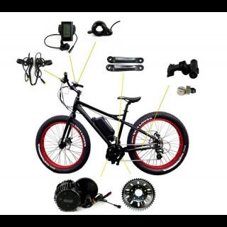 Електронабір для велосипеда 48В 1000Вт Bafang стандарт / FAT Color HD кареточний